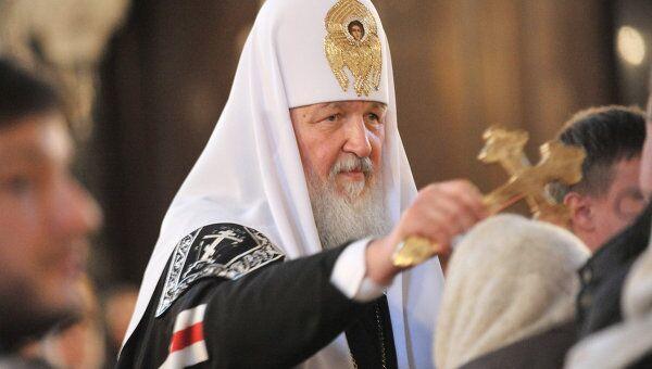 Патриарх Московский и всея Руси Кирилл совершил вечерню с чином прощения