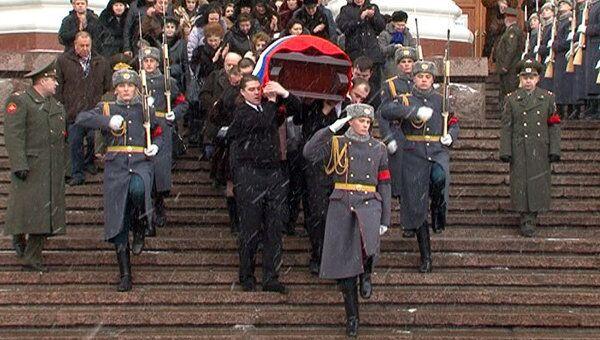 Касаткину проводили в последний путь под звуки военного оркестра