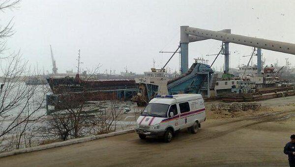 Возгорание палубной надстройки танкера Инженер Назаров