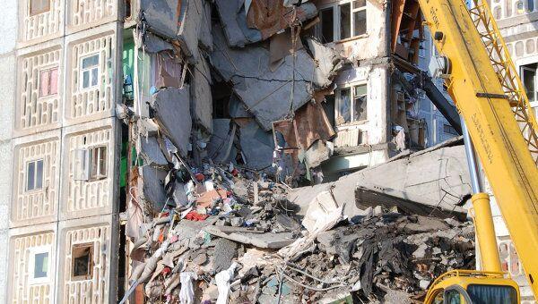 Ликвидация последствий обрушения жилого дома в Астрахани