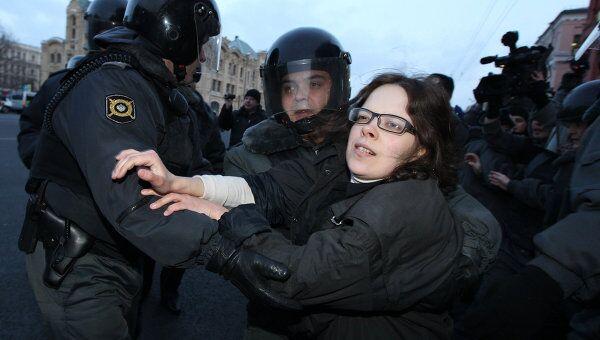 Задержание участников несанкционированной акции. Архив