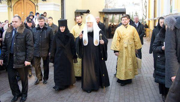 Патриарх Московский и всея Руси Кирилл в Покровском женском монастыре