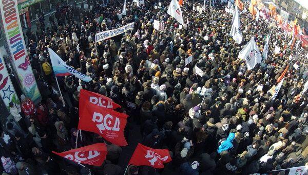 Митинг За честные выборы на Новом Арбате