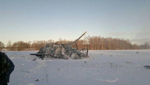 Место падения вертолета Ка-52