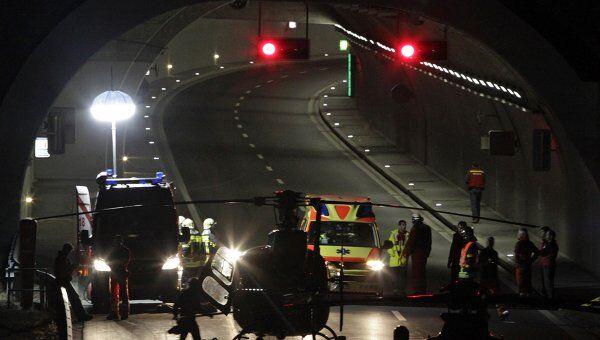 Туристический автобус разбился в Швейцарии