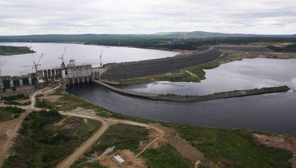 Строительство Богучанской ГЭС