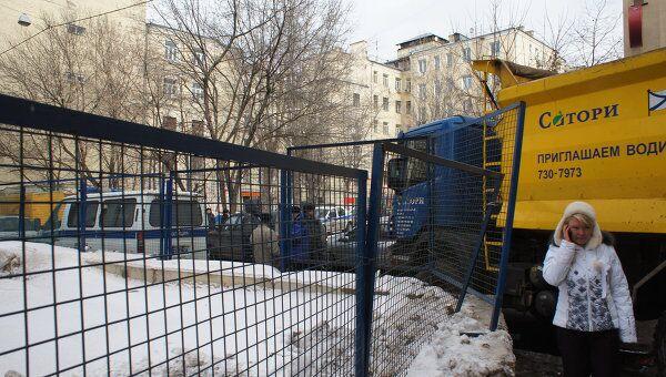 Снос дома в Козихинском переулке в Москве
