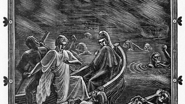 Репродукция иллюстрации к Божественной комедии Данте Алигьери