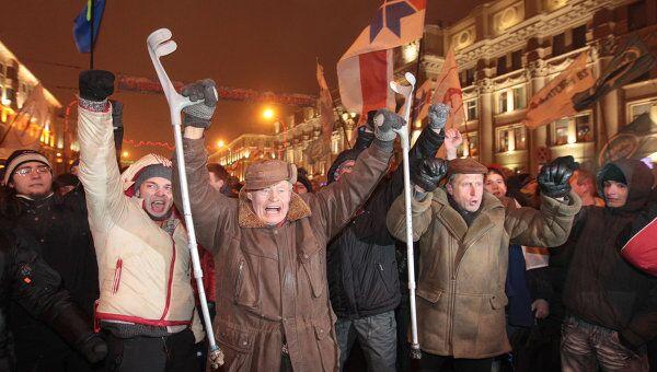 Акция протеста белорусской оппозиции. Архив