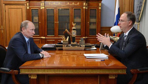 Премьер-министр РФ В.Путин провел рабочую встречу с гендиректором РФПИ К.Дмитриевым. Архивное фото