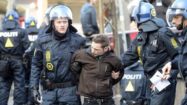 В Дании произошли столкновения левых активистов с антиисламистами