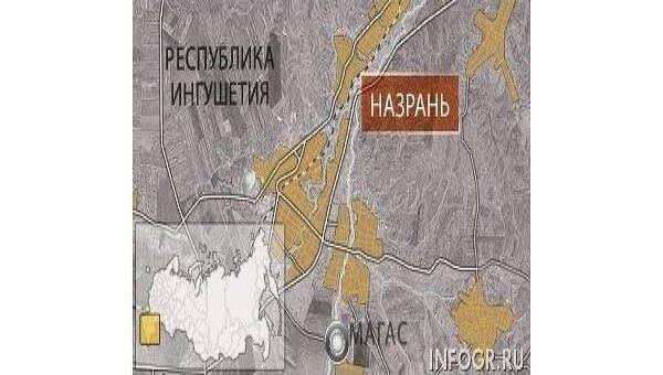 Карта Назрани