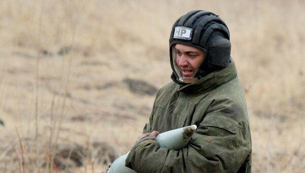 Стрельбы артиллерийских батарей на Сергеевском полигоне