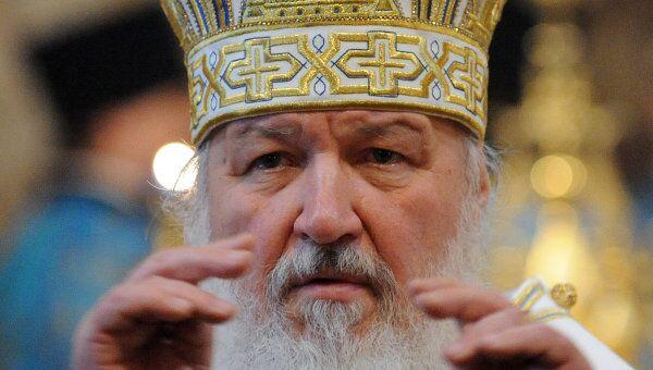 Патриарх Московский и всея Руси Кирилл совершает Божественную литургию. Архив