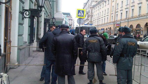 Усиление мер безопасности у здания Госдумы РФ