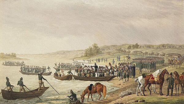 Переправа Итальянского корпуса вице-короля Евгения Богарне через Неман 30 июня 1812 года. Альбрехт Адам