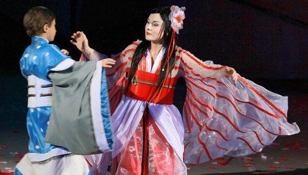 Сцена из оперы Мадам Баттерфляй. Архивное фото