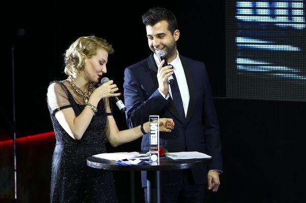 Иван Ургант и Рената Литвинова