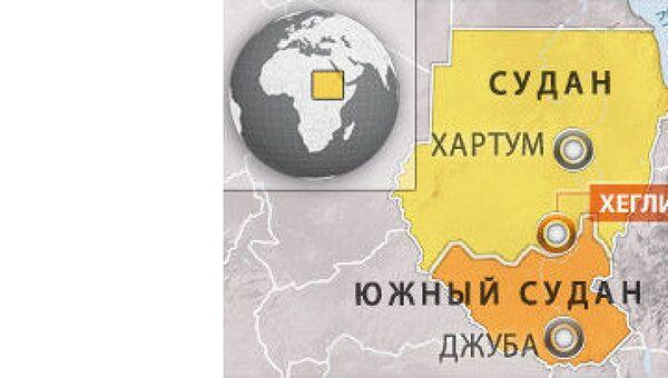 Судан, Хеглиг. Карта