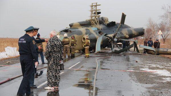 Аварийная посадка Ми-8 под Хабаровском