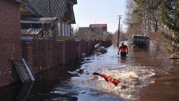 Подтопление домов в Ленинградской области