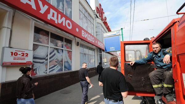 Срабатывание системы пожаротушения в магазине М.Видео в Москве