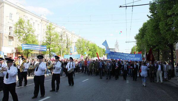 Авиазавод на демонстрации в Воронеже