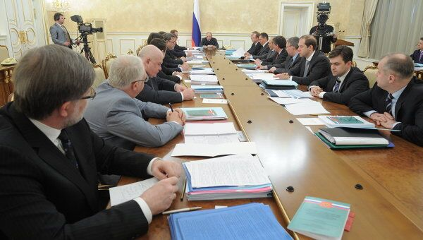 Владимир Путин провел заседание правительства РФ. Архив