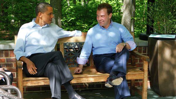 Дмитрий Медведев и Барак Обама проводят неформальную всречу в Кэмп-Дэвиде