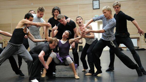 Репетиция балета Бориса Эйфмана Роден. Архивное фото