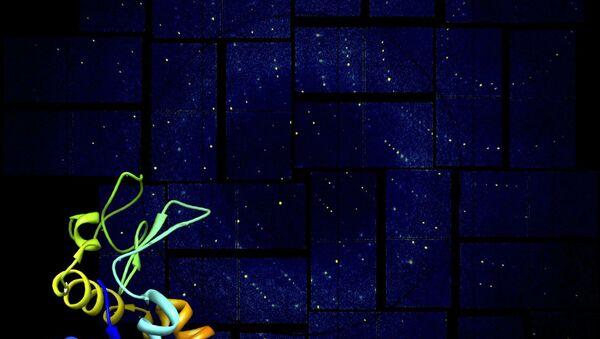 Изображение белка лизоцима, полученное при помощи молекулярной камеры на базе сверхмощного рентгеновского лазера