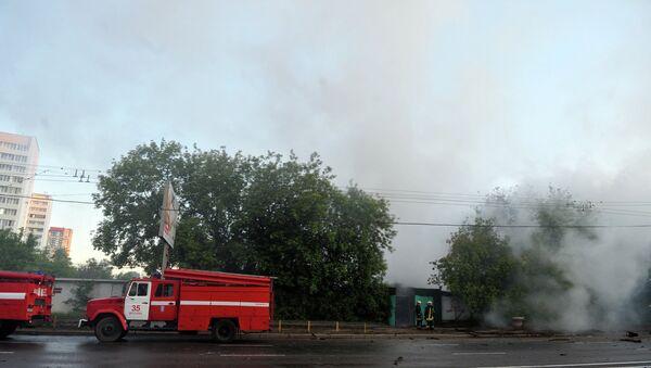 Крупный пожар. Архивное фото