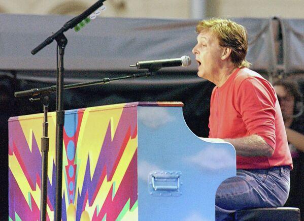Пол Маккартни во время концерта на Красной площади в Москве