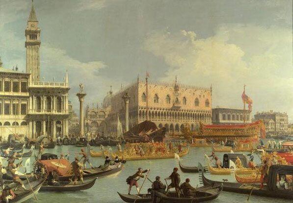 Возвращение Бучинторо к молу у Дворца дожей