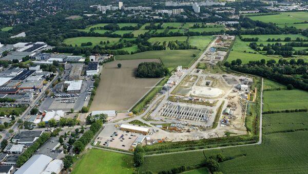Площадка Шенефельд европейского рентгеновского лазера XFEL в окрестностях Гамбурга