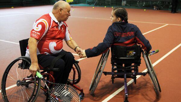 Чемпионка по теннису на колясках в Петербурге