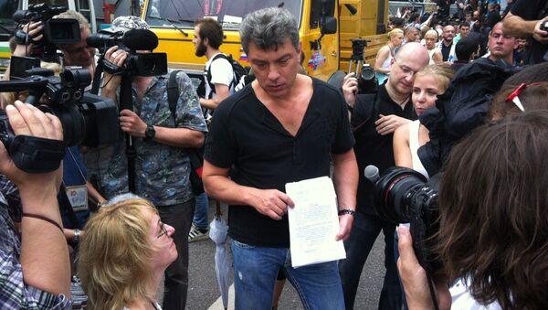 Борис Немцов на Марше миллионов 12 июня