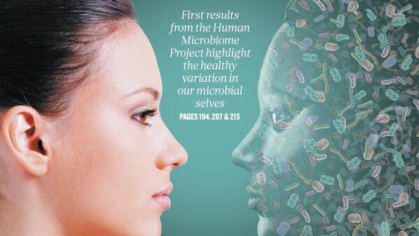 Обложка номера журнала Nature, в котором опубликованы результаты работы проекта Микробиом человека