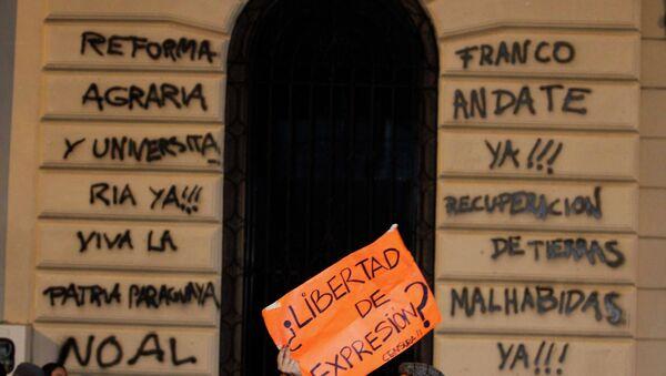 Протесты против нового президента в Парагвае