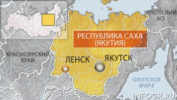 Карта Якутии