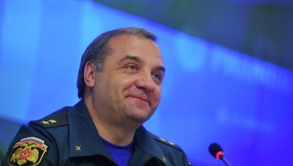 Пресс-конференция главы МЧС РФ Владимира Пучкова