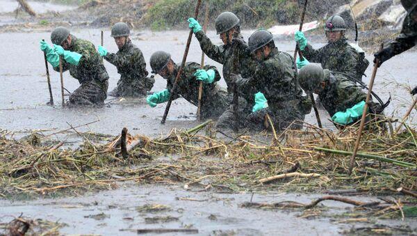 Последствия ливневых дождей в Японии