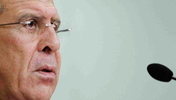 Сергей Лавров на пресс-конференции по вопросам сирийского урегулирования