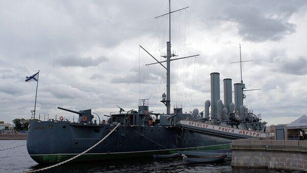 Крейсер Аврора в Санкт-Петербурге.