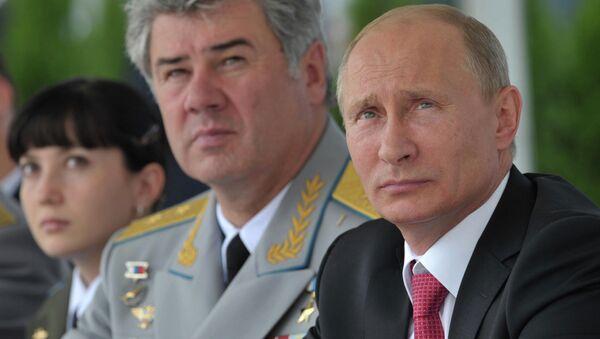 В.Путин на авиашоу в честь 100-летия российских ВВС
