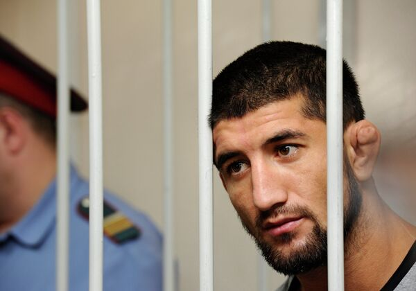 Рассмотрение ходатайства о заключении под стражу Расула Мирзаева в Замоскворецком суде Москвы