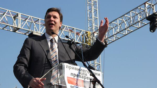 Министр обороны Сербии Александр Вучич