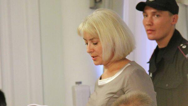 Гособвинитель Оксана Дрогобицкая на заседании Высшего специализированного суда Украины