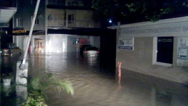 Потоп в курортном поселке Новомихайловское близ Туапсе