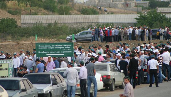 Похороны духовного лидера мусульман Дагестана Саида Афанди. Архивное фото